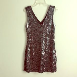 Express sequin mini dress